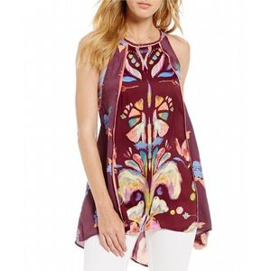 FREE PEOPLE DREAM FREE PRINTED TUNIC